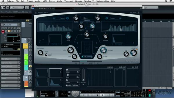 Understanding instrument tracks: Up and Running with Cubase 7