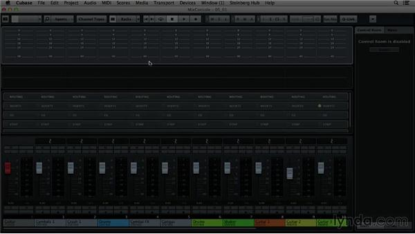 Understanding the mixer layout: Up and Running with Cubase 7