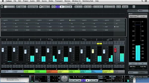 Adding a compressor and other effects: Up and Running with Cubase 7