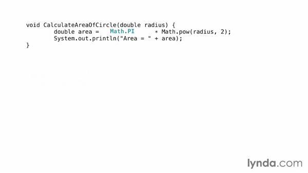 The Inline Method refactoring: Foundations of Programming: Refactoring Code