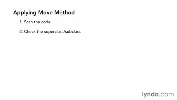 Move Method: Foundations of Programming: Refactoring Code