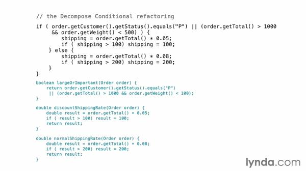 Making conditions easier to read: Foundations of Programming: Refactoring Code
