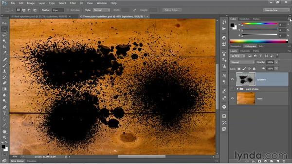 215 Creating an eye-catching splatter effect: Deke's Techniques