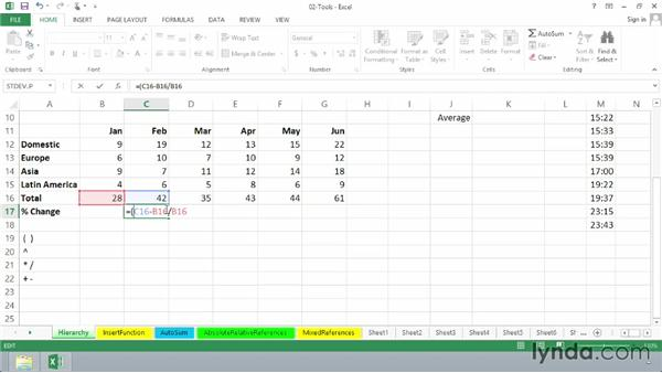 Understanding the hierarchy of operations in Excel formulas: Excel 2013: Advanced Formulas and Functions