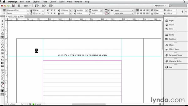 Adding page numbers and running heads: Designing a Book