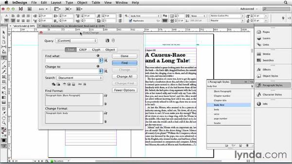Applying a style sequence: Designing a Book