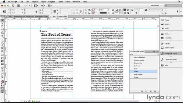 Formatting the chapter openers: Designing a Book
