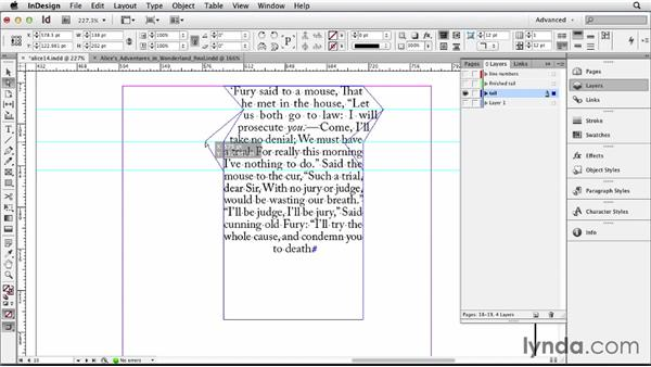 Adding typographic effects: Designing a Book