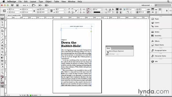 Applying Optical Margin Alignment: Designing a Book