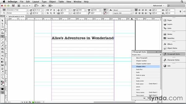 Adding a half title and title: Designing a Book