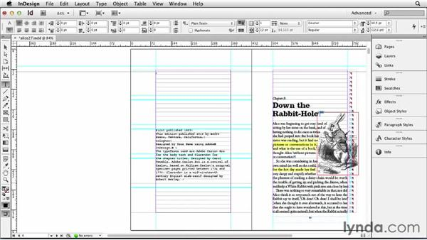 Adding a copyright and colophon: Designing a Book