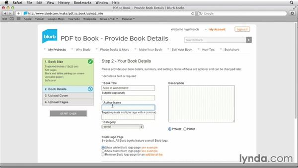 Uploading to Blurb: Designing a Book