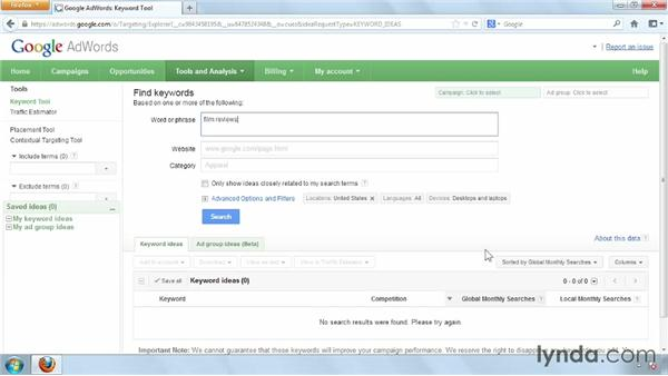 Putting the Google Adwords Keyword tool to use when publishing: Distributing and Marketing Ebooks