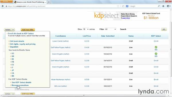 Using KDP Select: Distributing and Marketing Ebooks