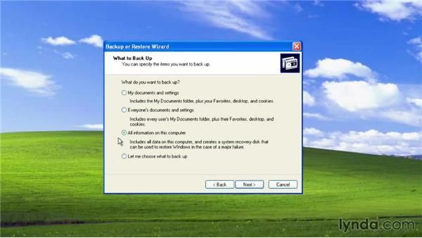 Backing up your files: Migrating from Windows XP to Windows 8