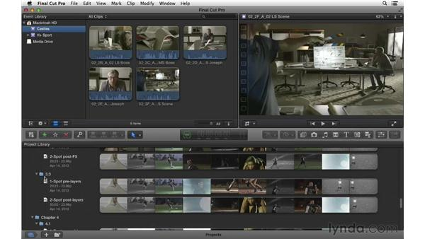 Using the exercise files: Commercial Editing Techniques with Final Cut Pro X v10.0.9