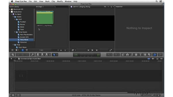 Building the audio foundation for the spot: Commercial Editing Techniques with Final Cut Pro X v10.0.9