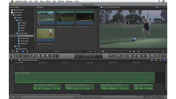 Laying in the visual structure for the spot: Commercial Editing Techniques with Final Cut Pro X v10.0.9
