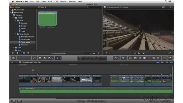 Focusing on timing and pacing: Commercial Editing Techniques with Final Cut Pro X v10.0.9