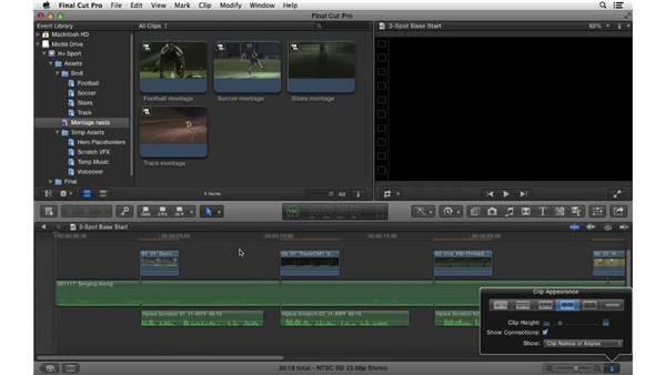 Continuing the edit and working with compound clips: Commercial Editing Techniques with Final Cut Pro X v10.0.9