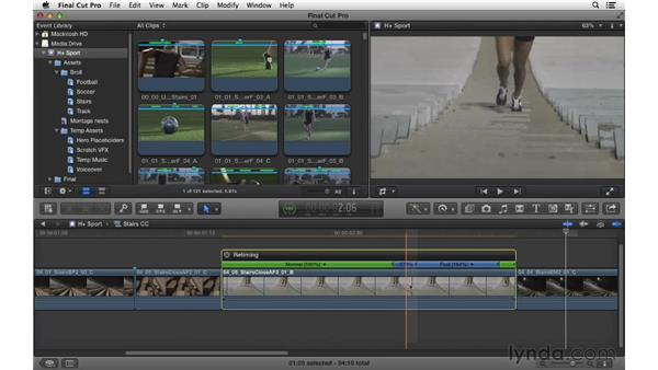 Manipulating speed with stutter edits: Commercial Editing Techniques with Final Cut Pro X v10.0.9