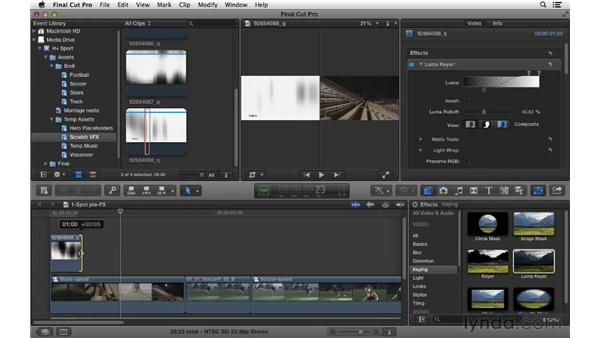 Adding transition effects: Commercial Editing Techniques with Final Cut Pro X v10.0.9