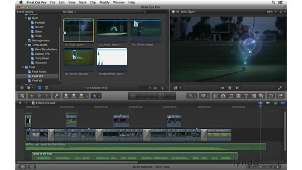 Adding the final graphics, music, and voice-over: Commercial Editing Techniques with Final Cut Pro X v10.0.9