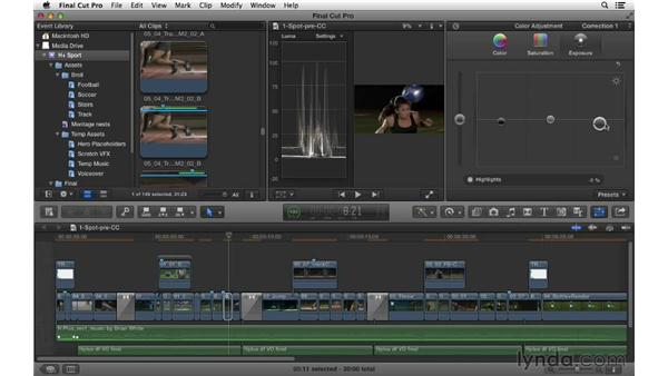 Color correcting for style: Commercial Editing Techniques with Final Cut Pro X v10.0.9