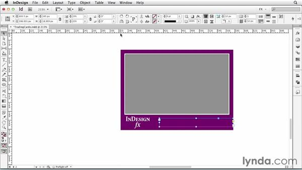 094 Making trading cards: InDesign FX
