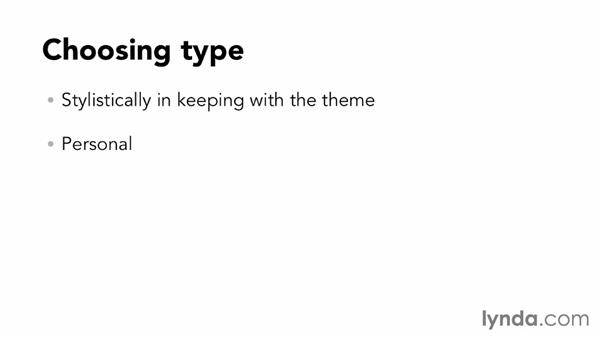 Choosing type: Designing a Photo Book