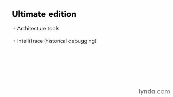 Understanding the Visual Studio 2012 versions: Visual Studio 2012 Essential Training