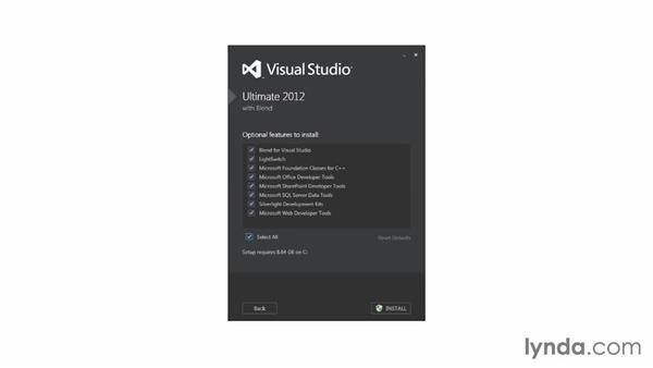Setting up your developer computer: Visual Studio 2012 Essential Training