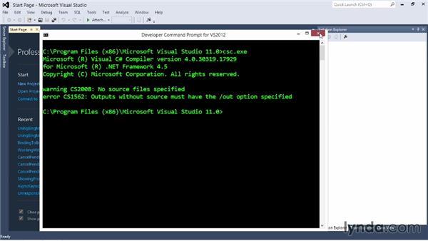 Creating a Visual Studio project: Visual Studio 2012 Essential Training