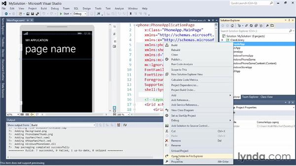 Working with the Solution Explorer: Visual Studio 2012 Essential Training