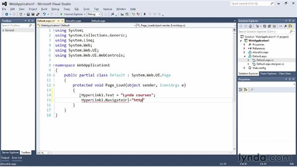Creating a website with ASP.NET: Visual Studio 2012 Essential Training