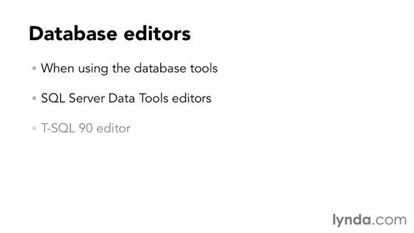 Language editor availability in Visual Studio 2012: Visual Studio 2012 Essential Training