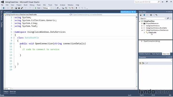Using Class View: Visual Studio 2012 Essential Training