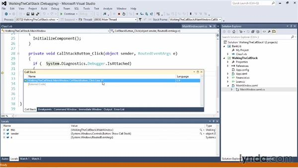 Walking the Call Stack: Visual Studio 2012 Essential Training