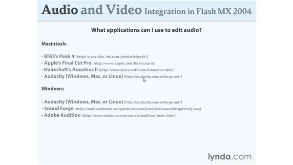 applications: Flash MX 2004 Audio & Video Integration