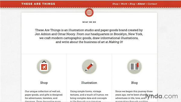 Website considerations: Running a Design Business: Starting Small