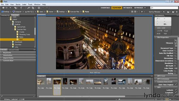 Using workspaces: Bridge CC for Photographers