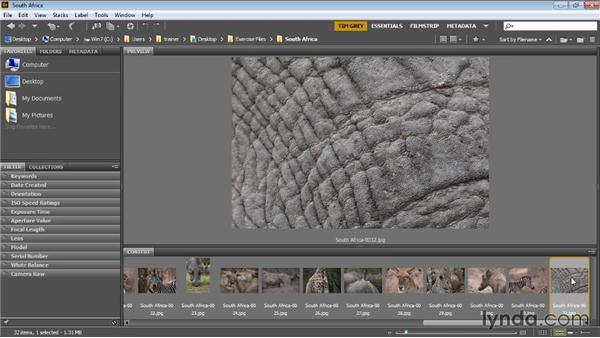 Rotating images: Bridge CC for Photographers