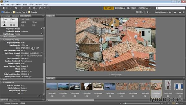 Reviewing and updating metadata: Bridge CC for Photographers