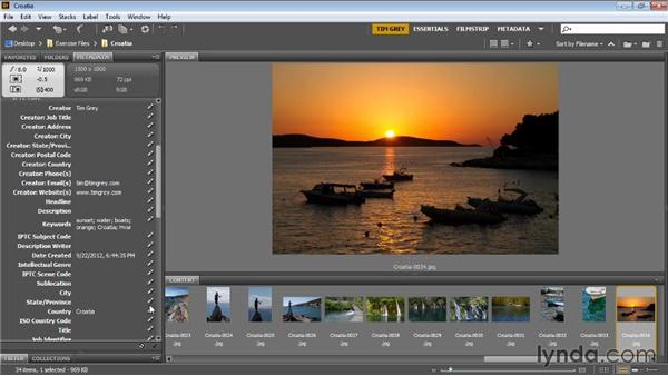 Adding keywords: Bridge CC for Photographers