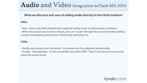 adding to the Flash timeline: Flash MX 2004 Audio & Video Integration