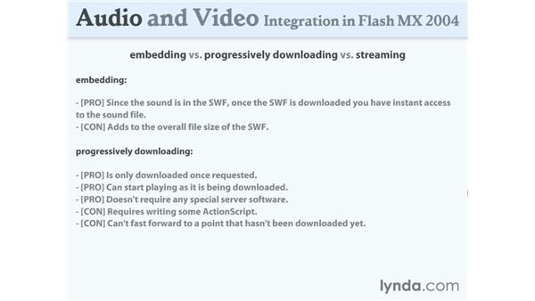 embedding, downloading and streaming: Flash MX 2004 Audio & Video Integration