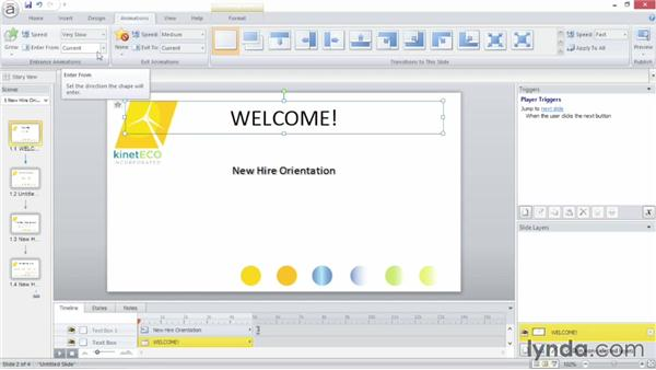 Adding animation: Up and Running with Articulate Storyline