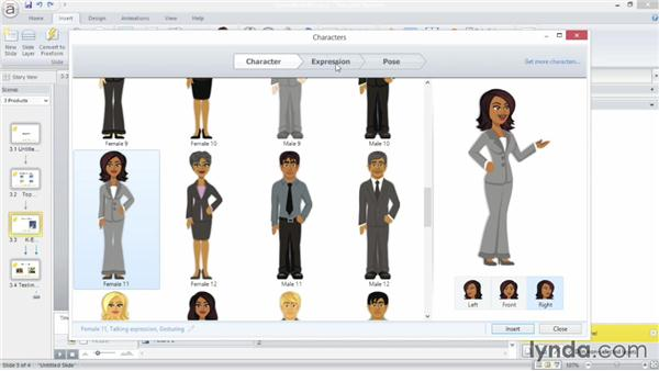 Using built-in characters: Up and Running with Articulate Storyline
