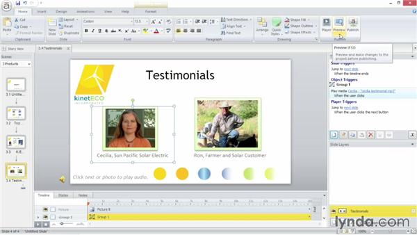 Adding background audio: Up and Running with Articulate Storyline