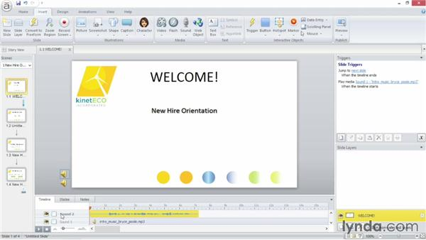 Recording narration: Up and Running with Articulate Storyline